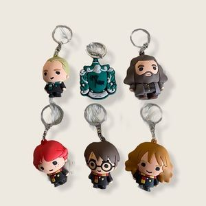 Harry Potter Key  Chain Collection 6 pcs